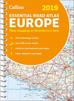 2019 Collins Essential Road Atlas Europe By (author) Collins Maps ISBN:9780008313487