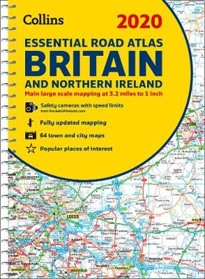 2020 Collins Essential Road Atlas Britain and Northern Ireland By (author) Collins Maps ISBN:9780008318703