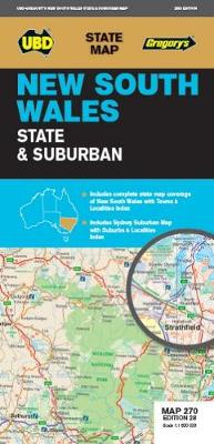 New South Wales State & Suburban Map 270 28th ed By (author) UBD Gregory's ISBN:9780731931828