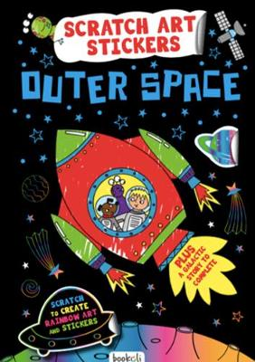 Outer Space: Scratch Art Stickers Created by Bookoli Ltd. ISBN:9781787723313